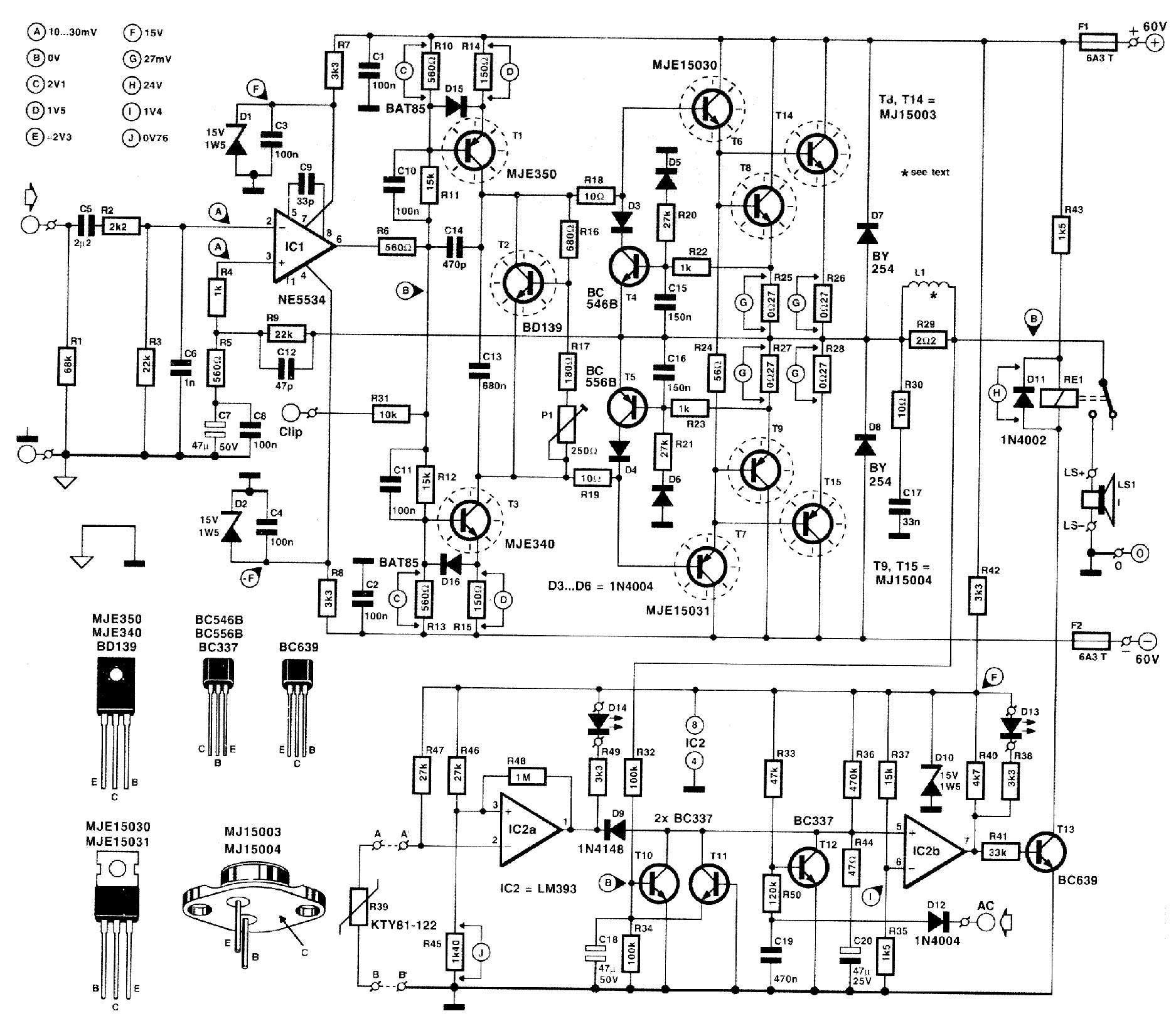 Schematic For P A With Op Amp Input Diyaudio
