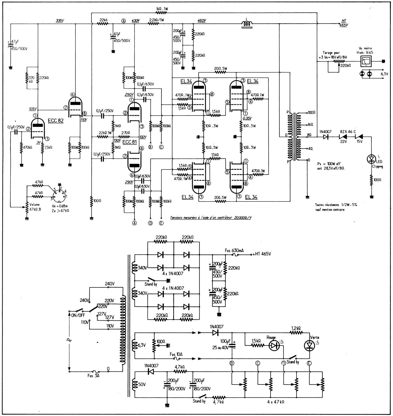 807 tube push pull schematic